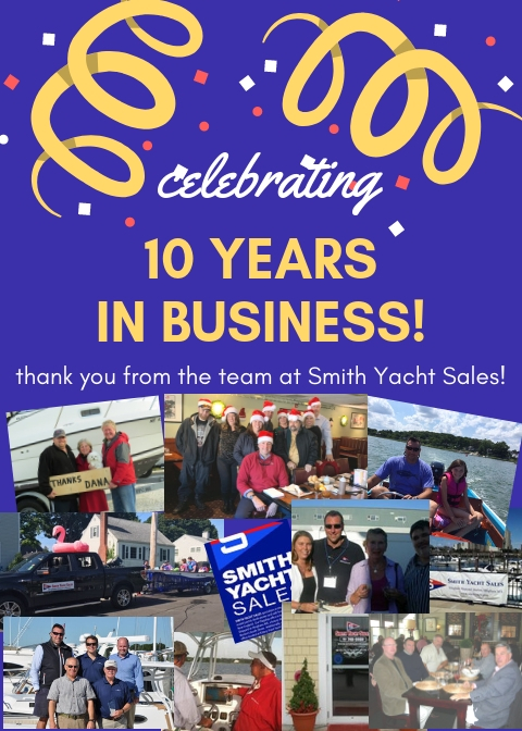 Celebrating Ten Years in Business Poster